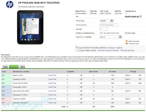 hp touchpad price. HP TouchPad Price and Launch