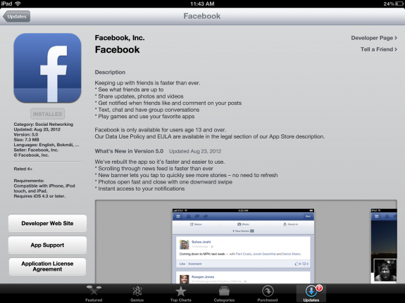 Facebook for iPhone and iPad is Actually a Functional App
