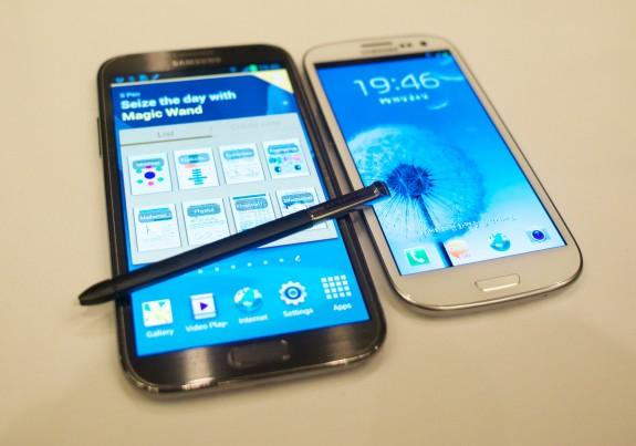 Samsung Galaxy Note 2 vs Samsung Galaxy s3 Galaxy Note 2 vs s3