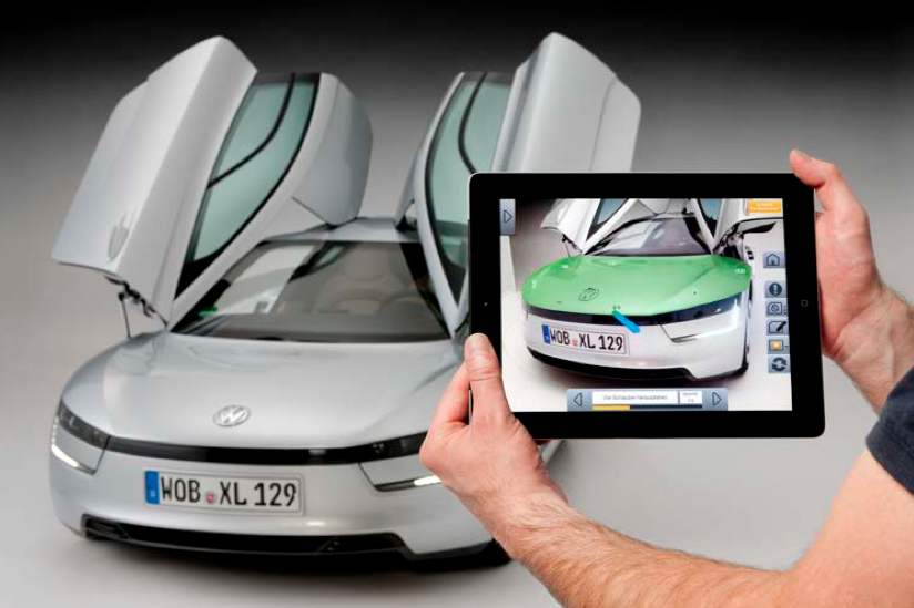 Volkswagen Showcases Augmented Reality App for Technicians Working
