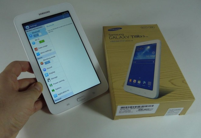 galaxy tab 3 lite unbox