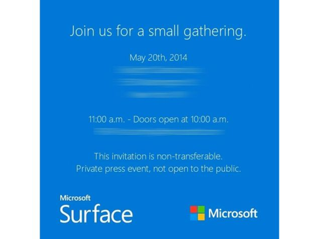 microsoft sends some press invites for a surface event that will
