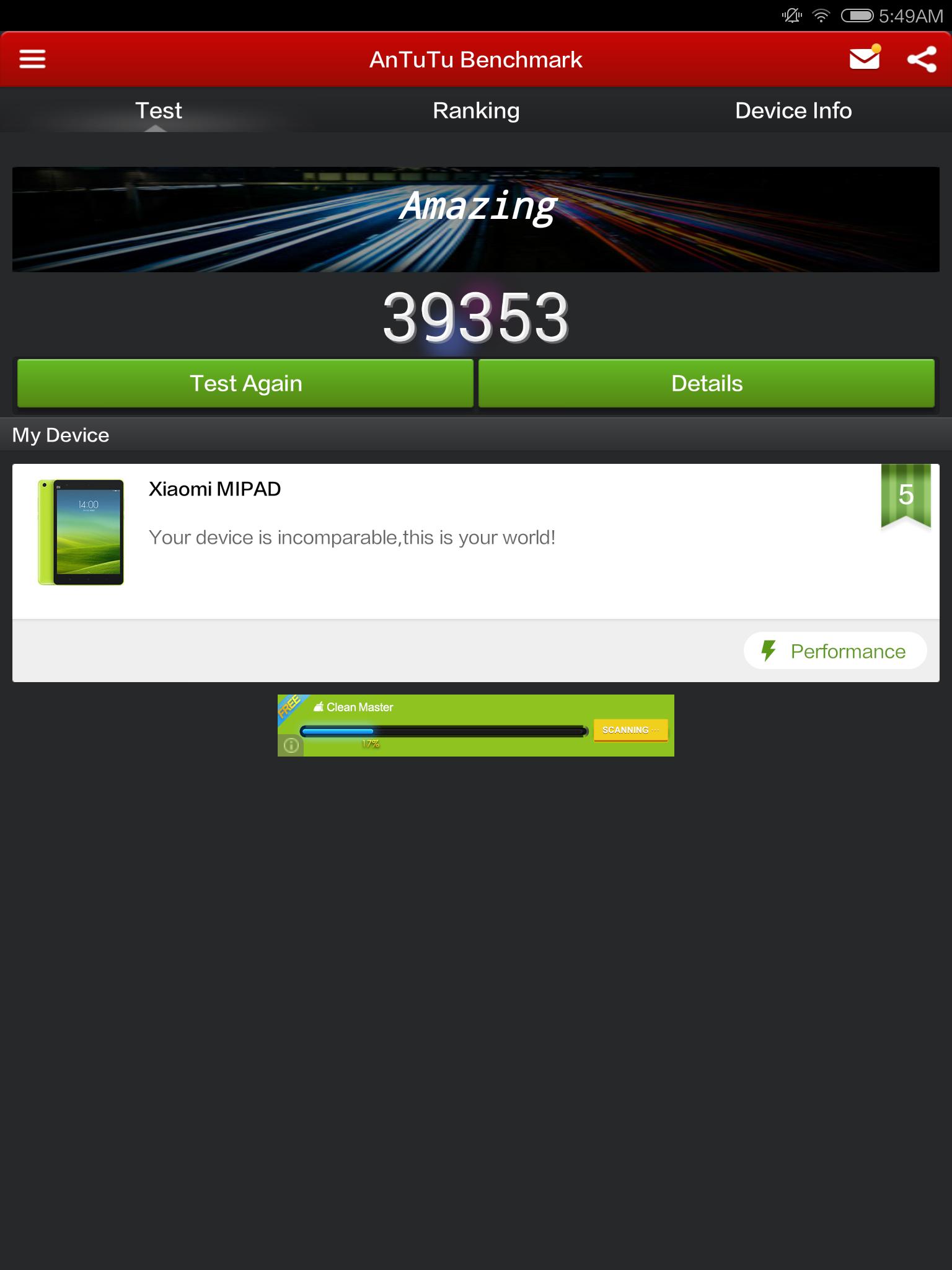Xiaomi Mi Pad Benchmarked By Us: Doubles the iPad Mini