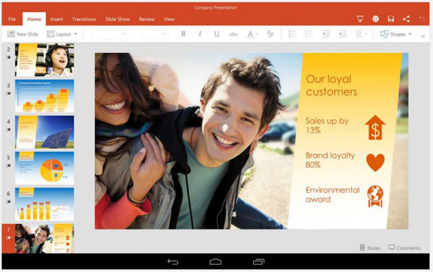 Microsoft Excel, Powerpoint and Word Preview Apps For Tablets Available Now In Play Store