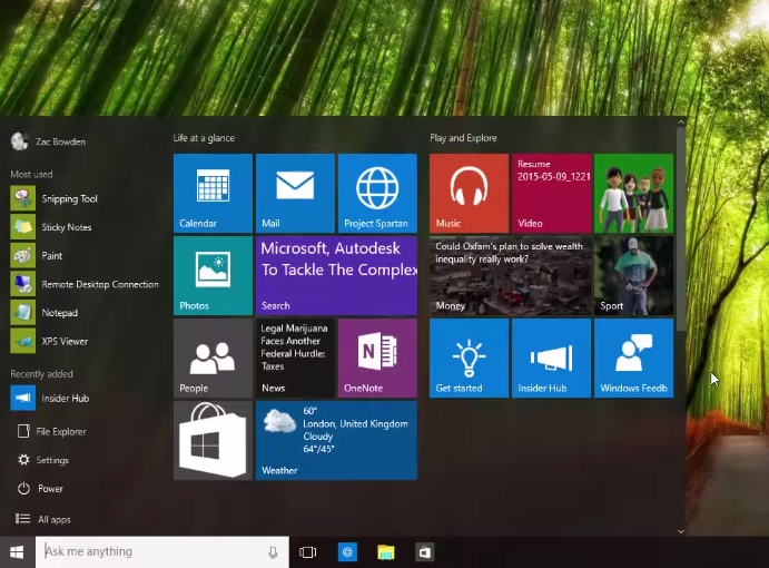 Windows 10 Build 10114 Shows Up in Video