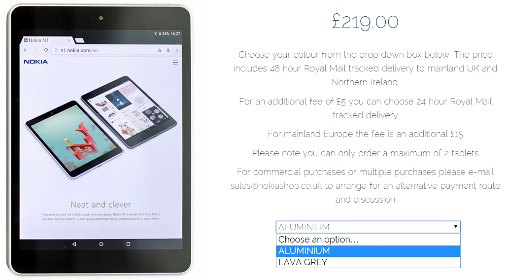 Nokia N1 Is Now Available in Europe for a $342 Price Tag ...
