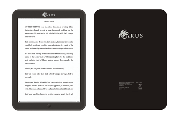 Icarus Illumina XL is an 8 Inch E-Reader With E-Ink Pearl Technology and 199 Euro Price Tag
