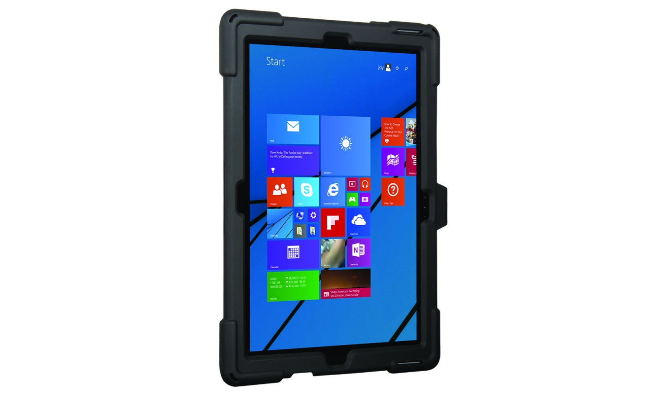 surface pro survivor griffin slim case stand microsoft rugged black rug
