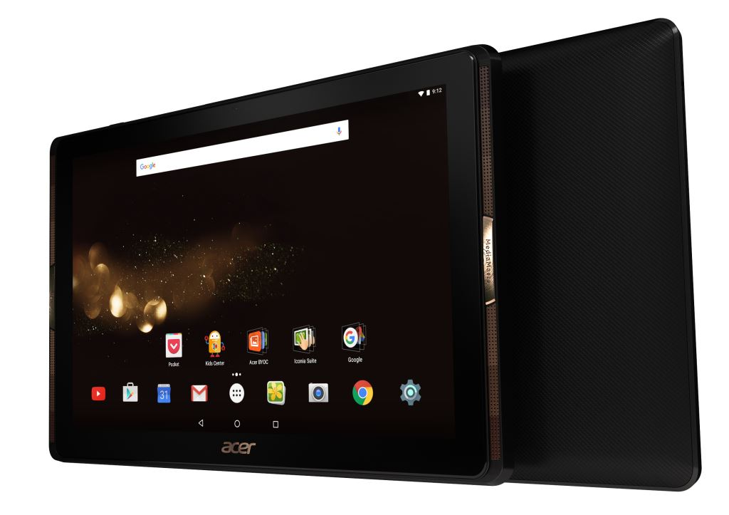 acer iconia tab 10 a3 a40 becomes official with 10 inch screen 4 acer quadio speakers. Black Bedroom Furniture Sets. Home Design Ideas