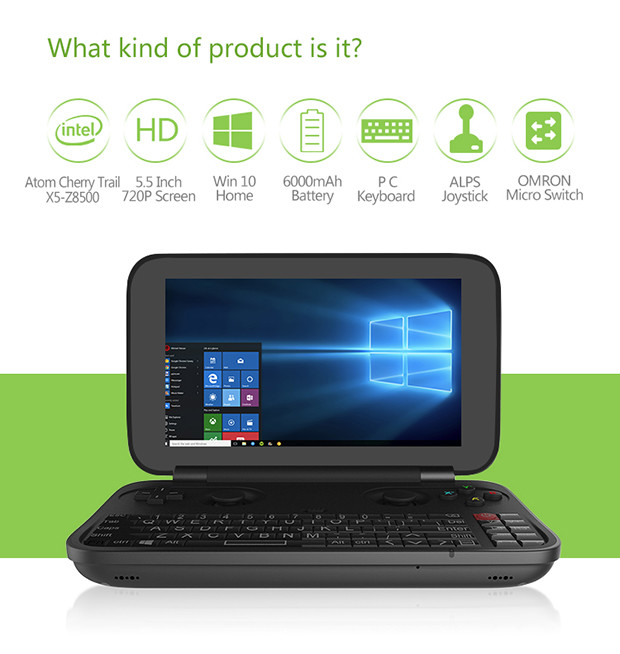 GPD Win Intel Z8550 is a Clamshell Tablet With Windows 10