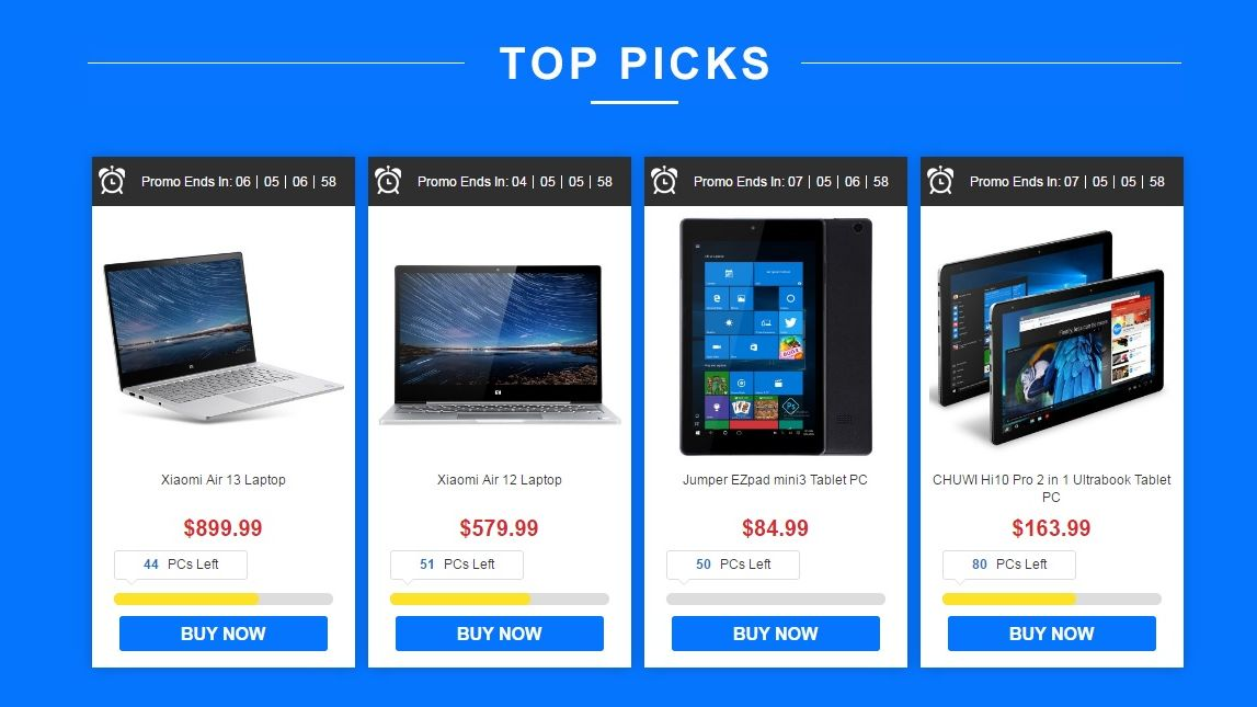 Top Tablet Deals on Chinese Retailer Brings Tablets and