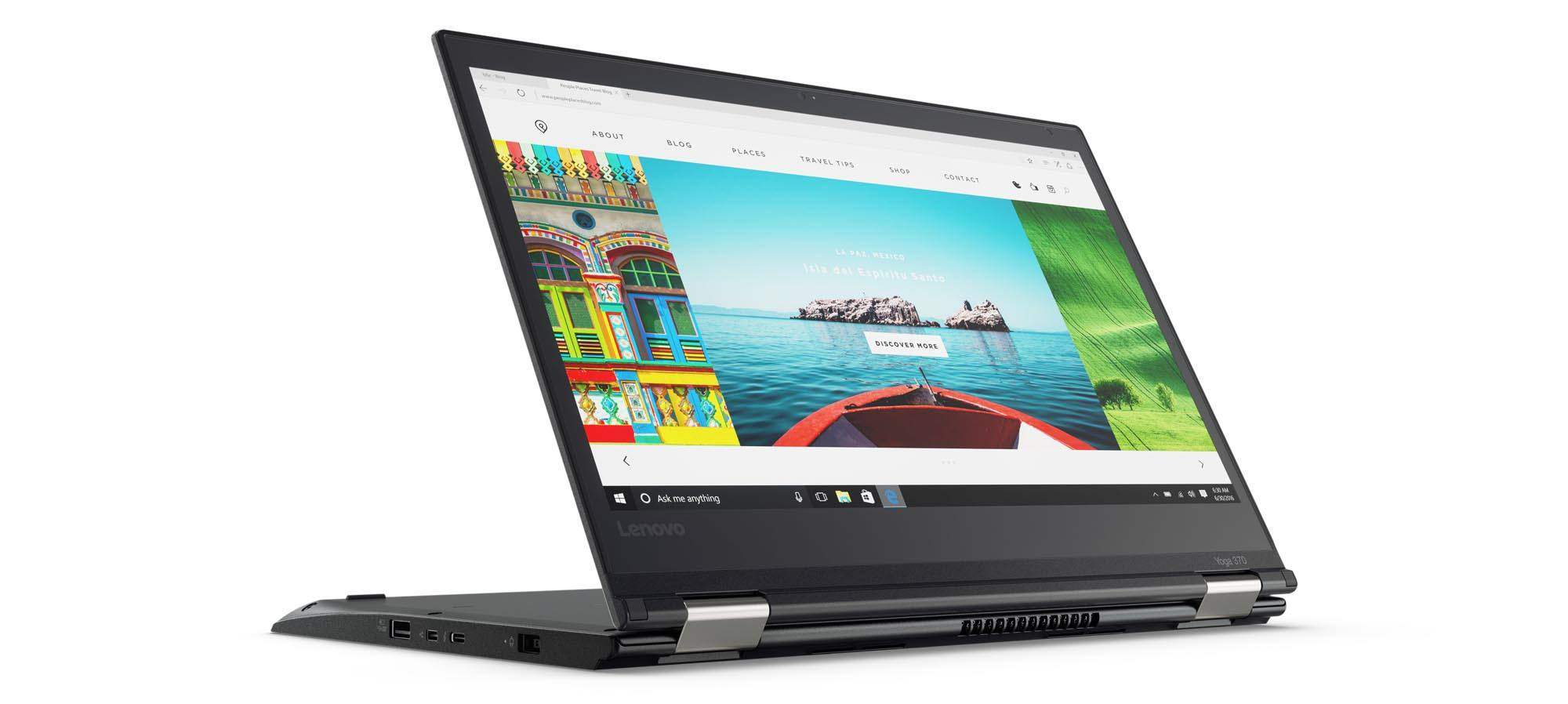 lenovo debuts thinkpad yoga 370 laptop with thunderbolt 3 port and 360 degree hinge tablet news. Black Bedroom Furniture Sets. Home Design Ideas