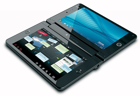 Toshiba's Dual Screen Laptop, Libretto W100 Available in the