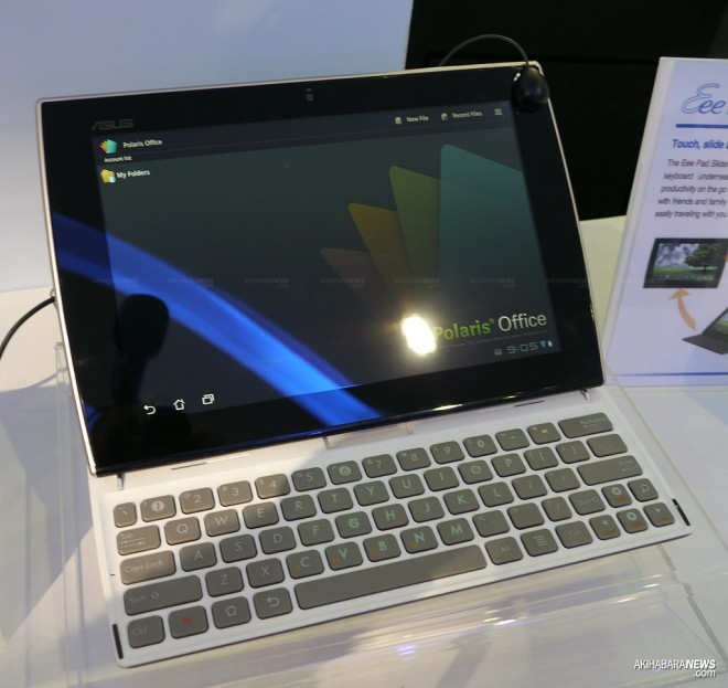 computex 2011 asus eee pad slider touched and felt video tablet rh tablet news com Asus MeMO Pad Asus Eee Pad Transformer Prime