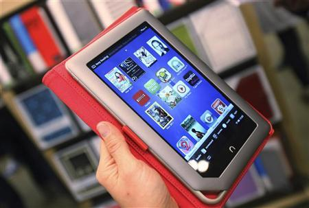 The new Nook Tablet is seen during a demonstration at the Union Square Barnes & Noble in New York