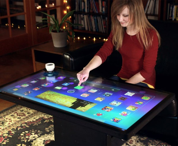 Ideum Android Coffee Table Takes Large Screen Computing To A Whole - Android coffee table