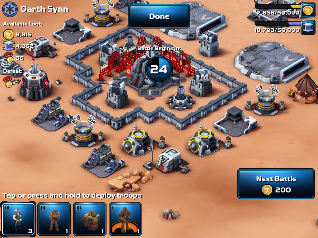 Star Wars Commander Review Ipad Mini Clash Of Clans
