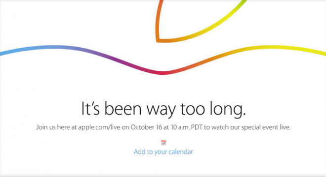 apple event october 16th