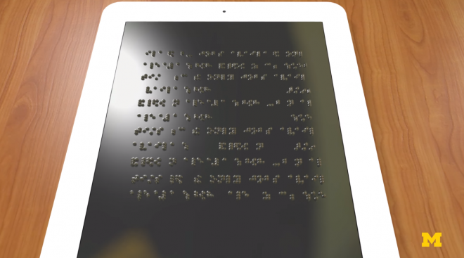 refreshable braille tablet