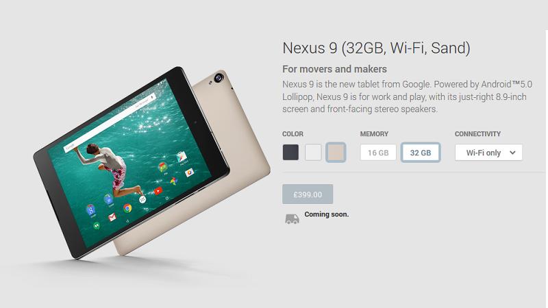 Google Store Nexus 9