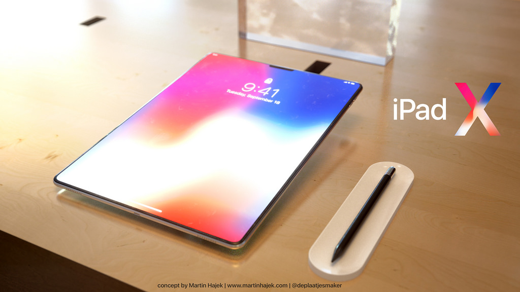 ipad pro gets iphone x vibes with this ipad x concept tablet. Black Bedroom Furniture Sets. Home Design Ideas