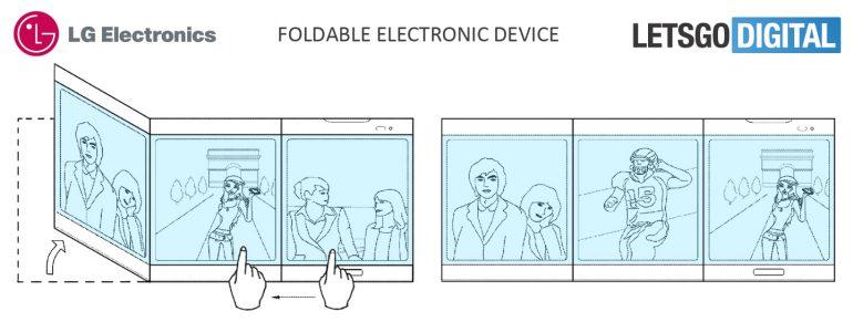 LG Patents Triple Screen Foldable Smartphone, Multiple Formats