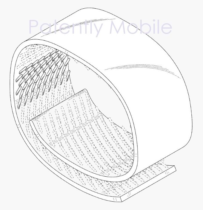 Samsung Patents New Design Showing A Foldout Display And Bangle Form