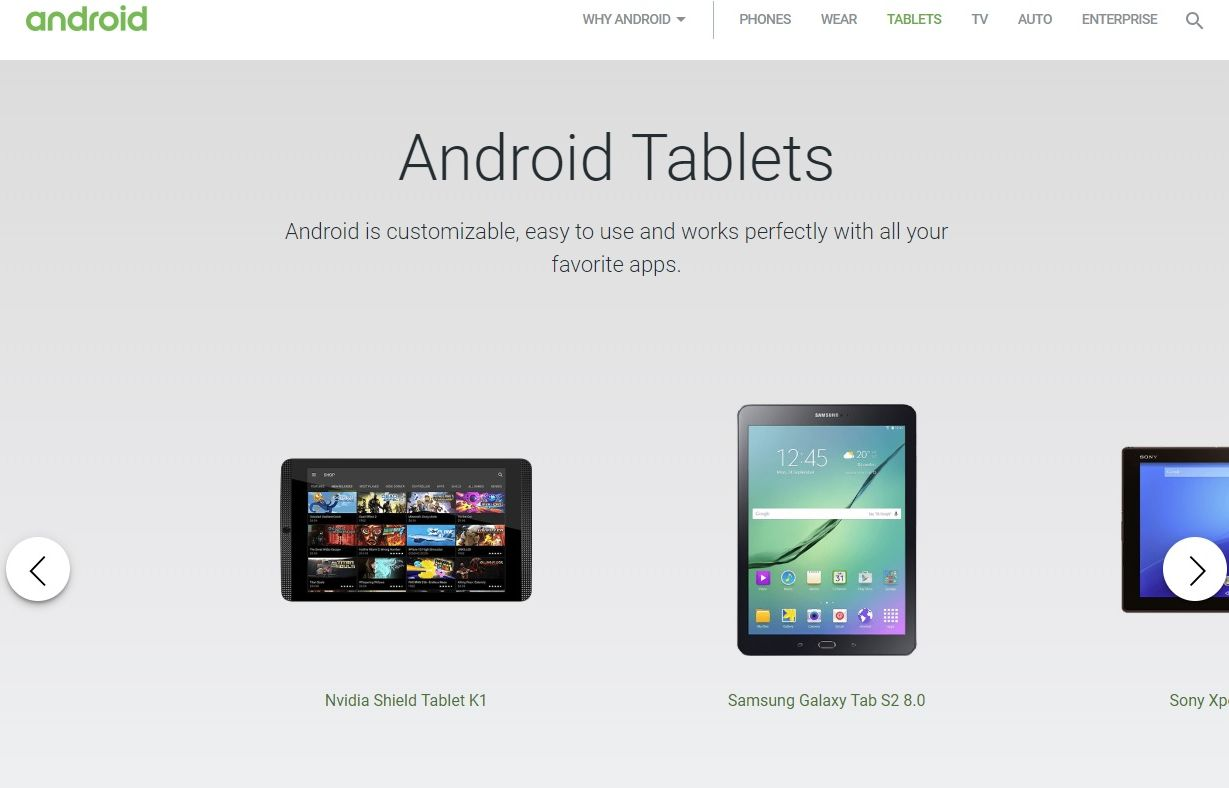 google android website cuts android tablet segment from official website 22683