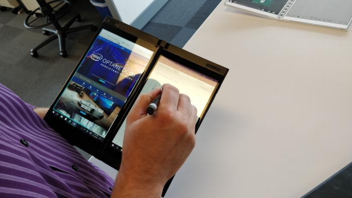 Intel Showcases Dual Screen Foldable Device Possible