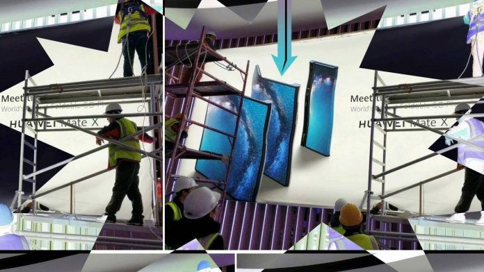 Huawei Mate X Foldable Phone Leaks in MWC 2019 Wall Poster, Looks Impressive