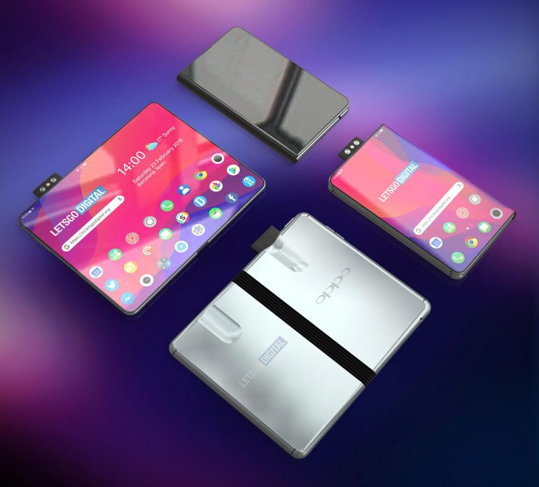 Oppo Folding Phone With Pop Up Camera Rendered, Looks Legit