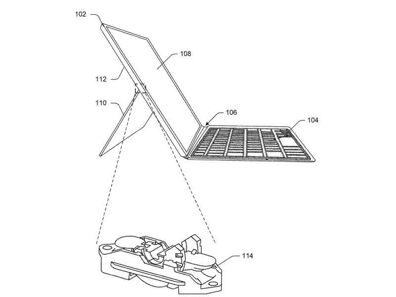 New Microsoft Patent Shows Brand new Kickstand for Surface Pro 7