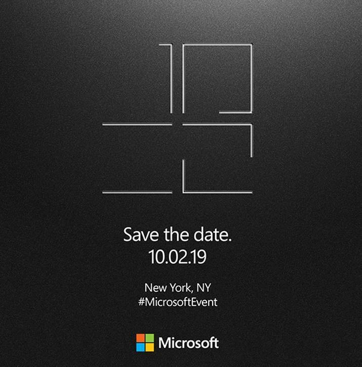 Microsoft Announces Surface Event, Scheduled for October 2nd; Surface Pro 7 Incoming?