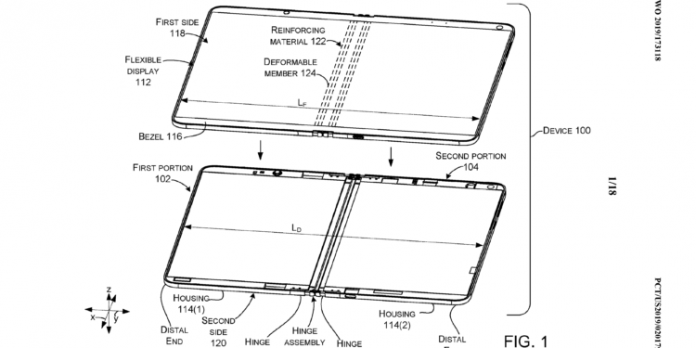 Microsoft Patents New Foldable Windows PC With a Liquid-Filled Hinge